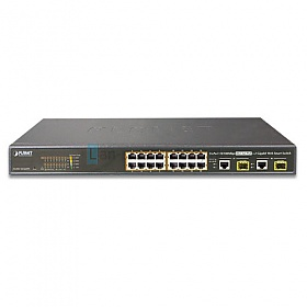 PLANET FGSW-1816HPS Switch 16x PoE + 2 x Gigabit TP/SFP Combo